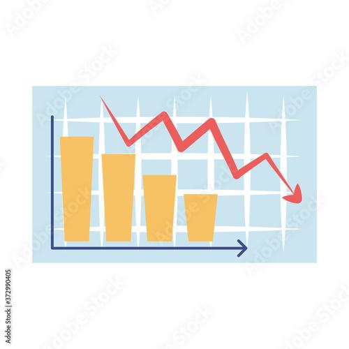 Fotografija bankruptcy downward arrow chart bank business financial crisis