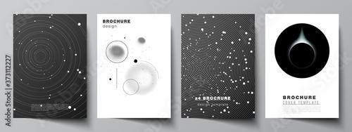 Fotografija Vector layout of A4 format cover mockups design templates for brochure, flyer layout, booklet, cover design, book design, brochure cover