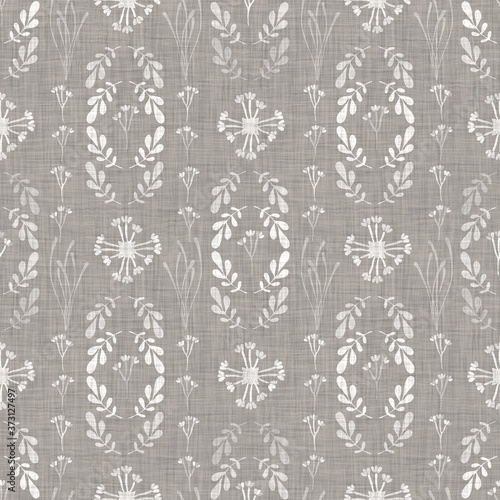 Valokuvatapetti Natural gray french woven linen texture background