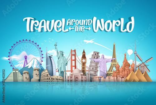 Fotografia Travel around the world vector landmark design
