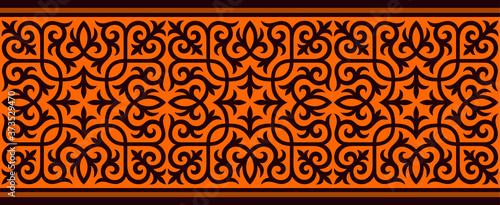 Fotografie, Obraz Strip of plant patterns