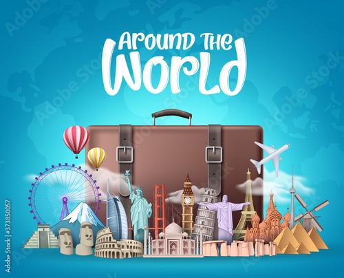 Travel around the world vector design Fototapeta