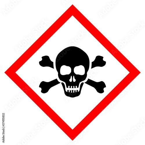 Canvas-taulu Skull poison vector sign