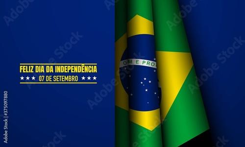Obraz na plátne Brazil Independence Day Background.