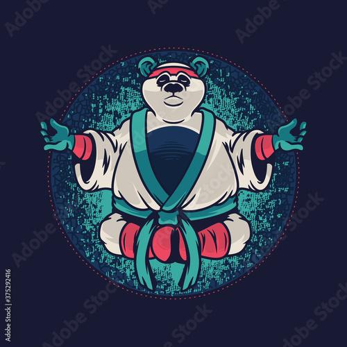 Obraz na płótnie Panda with kung fu uniform