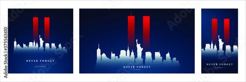 Canvas-taulu 9/11 Patriot Day banner