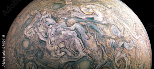 Obraz na plátně Jupiter planet in outer space close-up