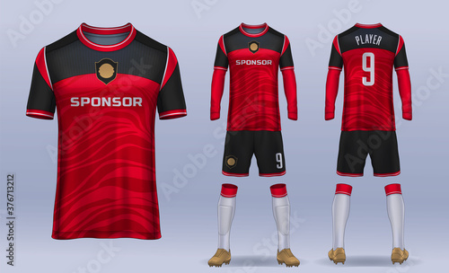 Canvas Print t-shirt sport design template, Soccer jersey mockup for football club