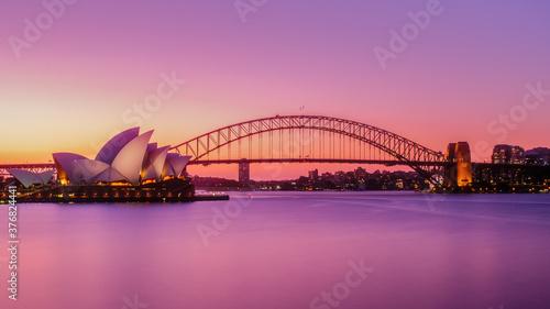Fototapeta premium sydney harbour bridge at sunset