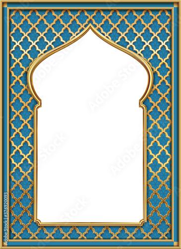 Wallpaper Mural Cover postcard golden oriental vintage arch frame