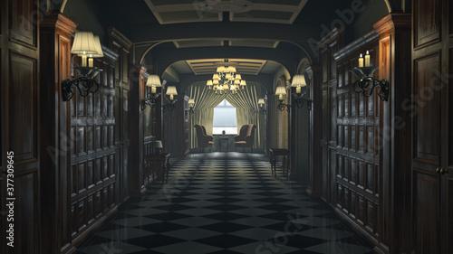 Fotografia hotel corridor