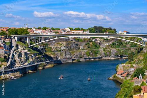 Fotografia, Obraz Infante Bridge, a bridge across the Douro River in Porto, Portugal