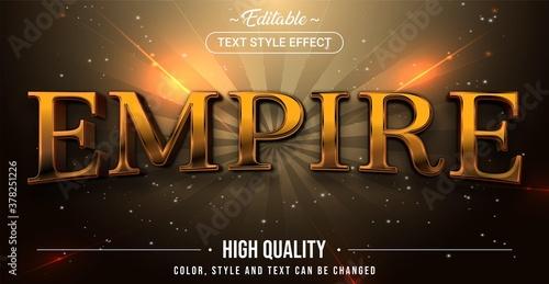 Fotografija Editable text style effect - Empire theme style.
