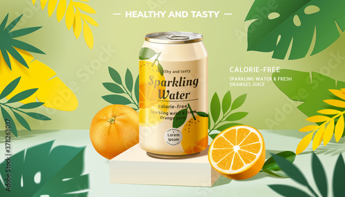 Tablou Canvas Sparkling water ad composition