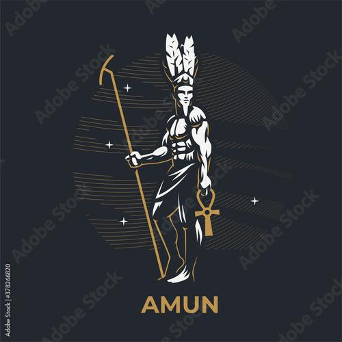 Canvas Print Egyptian god Amon.