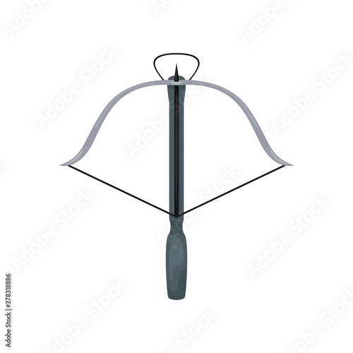 Canvas Print Vector illustration of a crossbow with an arrow