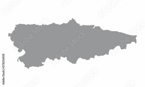 Asturias region map