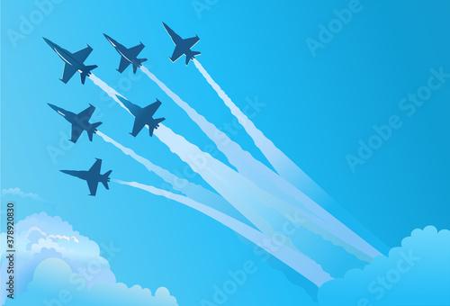 Fotografie, Obraz Eagle fighter jet plane taking off during exercise