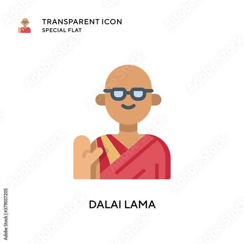 Slika na platnu Dalai lama vector icon. Flat style illustration. EPS 10 vector.