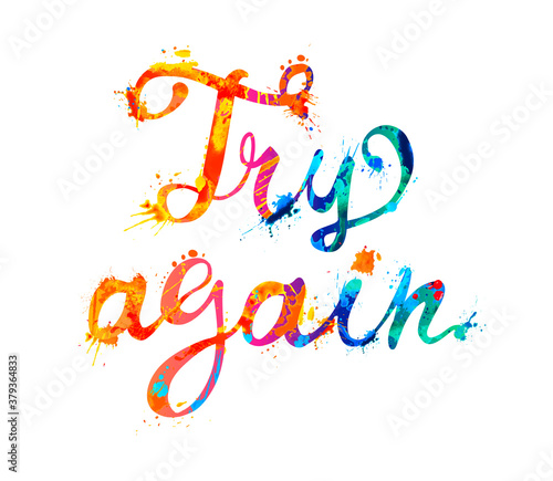 Try again. Motivation inscription of calligraphic letters