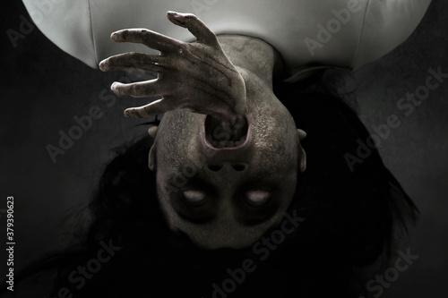 Fototapeta Woman possessed on dark background