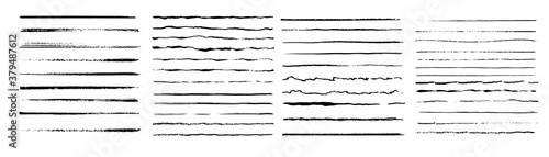 Fotografia Set of wavy horizontal lines