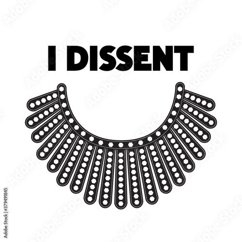 Billede på lærred I Dissent vector concept on white