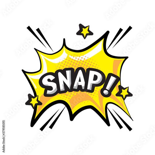 pop art snap explosion bubble detailed style icon vector design Fototapete