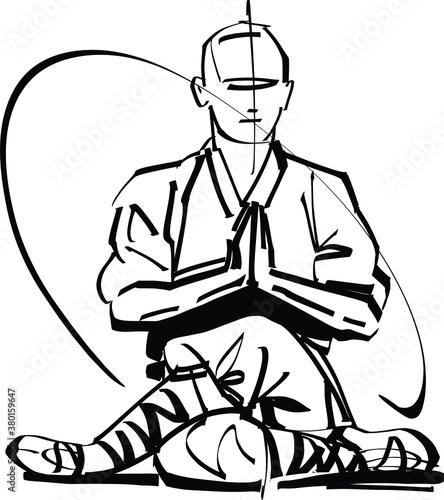 Fotografia silhouette of a kung fu master