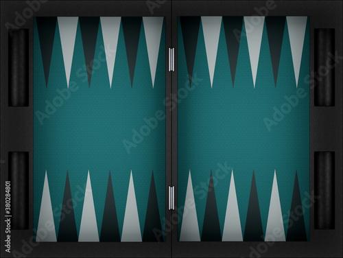 Carta da parati backgammon game board. 3d render