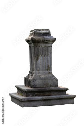 Canvas-taulu Old christian gravestone isolated on white background