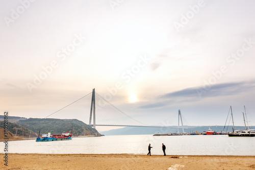 Canvas Print View of Yavuz Sultan Selim Bridge (Third Bosphorus Bridge)