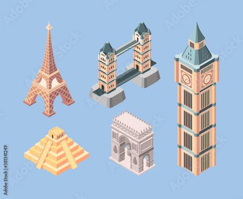 Fotografie, Obraz Landmarks isometric