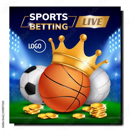 Obraz na płótnie Sport Live Betting Creative Promo Banner Vector