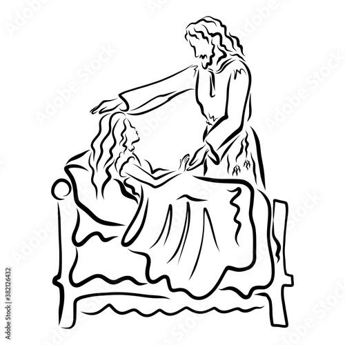 Obraz na plátne The Lord Jesus Raises the Dead Daughter of Jairus