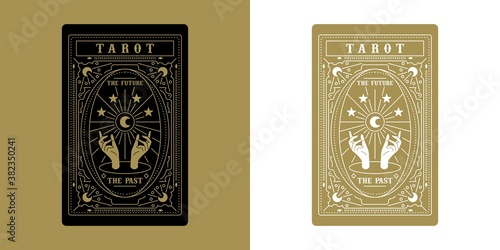 Tarot Card Minimalist Vector Illustration Fototapeta