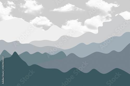 Obraz na płótnie Pastelowy krajobraz do pokoju dziecka