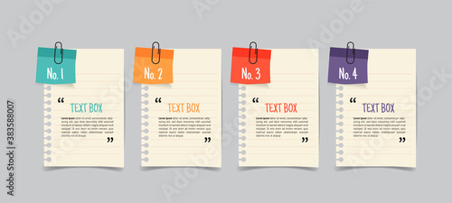 Fotografia Text box design with note papers.