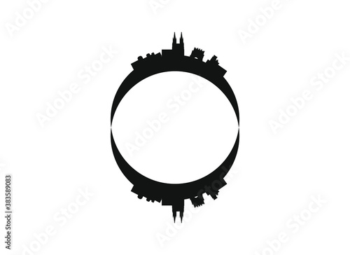 Leinwand Poster skyline of burgos city in spain.