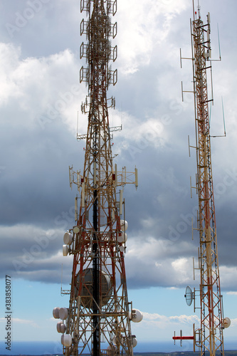 telecommunications tower telephony repeaters in Menorca