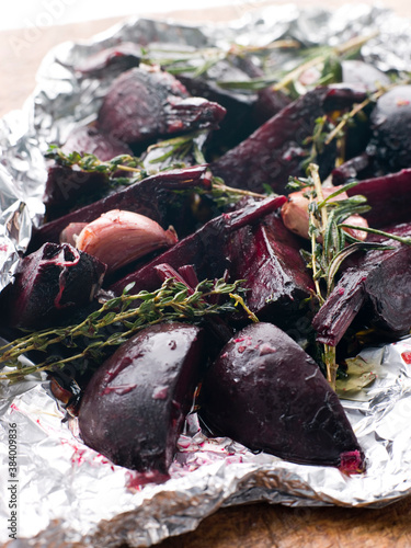 Roasted Beetroot with Herbs Garlic and Balsamic Vinegar