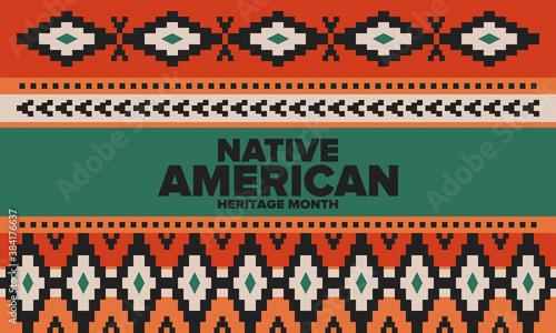 Photo Native American Heritage Month in November