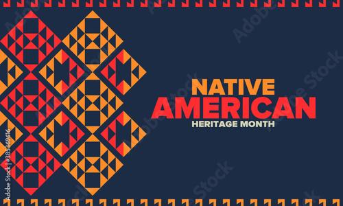 Obraz na plátně Native American Heritage Month in November
