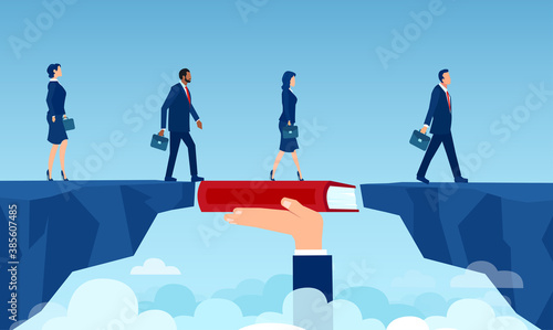 Foto Vector of a teacher hand holding a book bridging the gap in education for a grou