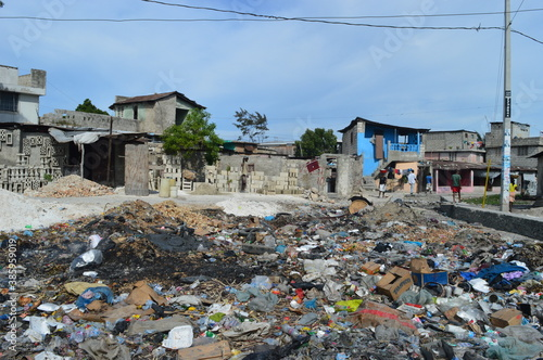 Tablou Canvas The poor city of Port Au Prince in Haiti after the destruction of the Earthquake