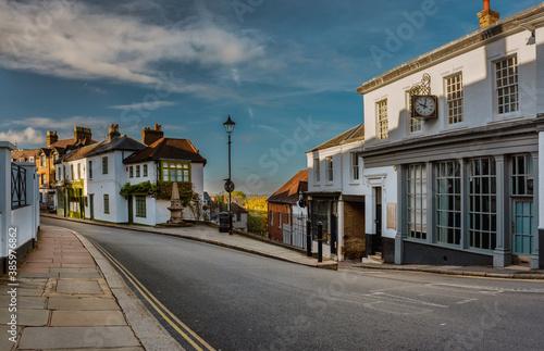 Fototapeta Harrow on the Hill charming High Street, Greater London, England