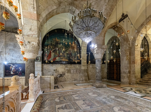 Wallpaper Mural Church of the Holy Sepulchre interior with XII century Chapel of Saint Helena in