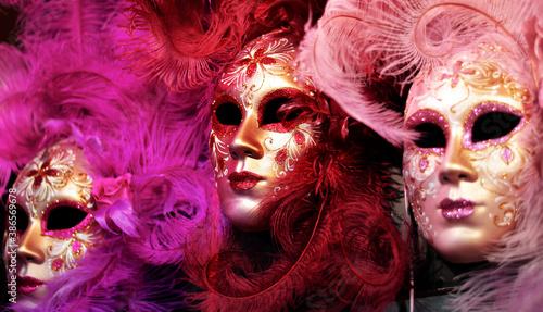 Fotografie, Obraz carnival mask in the night
