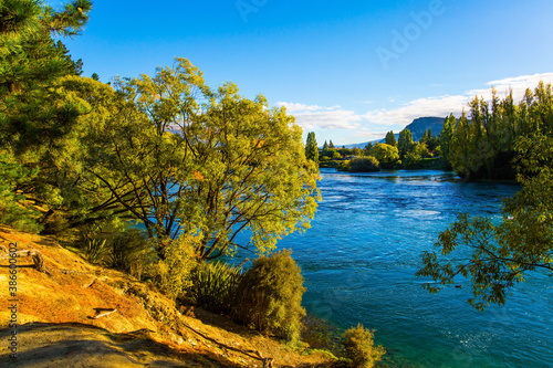 River with rapid flow
