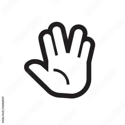Fotografia Flat design style. Grab hand. Hand gesture.